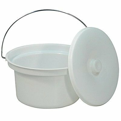 NRS Healthcare M11193 Commode Potty & Lid - Spare or Replacement Potty for Doved