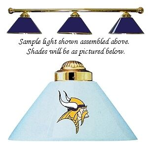 NFL Minnesota Vikings Blue Metal Shade Billiard Pool Table Light