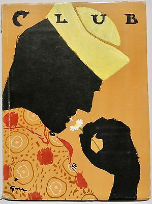 1963 Rene Gruau CLUB Italian menswear 60s vintage fashion magazine