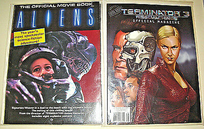 1986 ALIENS THE OFFICIAL MOVIE BOOK w/Posters, Starlog Press,Sigourney Weaver,NM