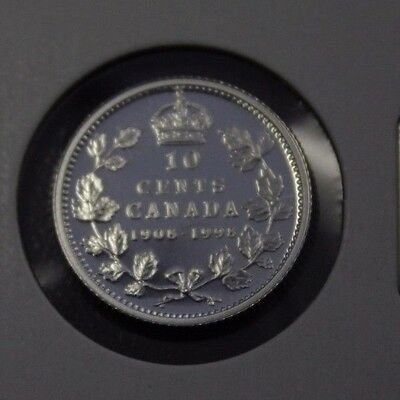1908 1998 Canada 10 cents silver proof