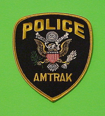 Amtrak  ( Gold Border )  Police Patch   Free Shipping!!!