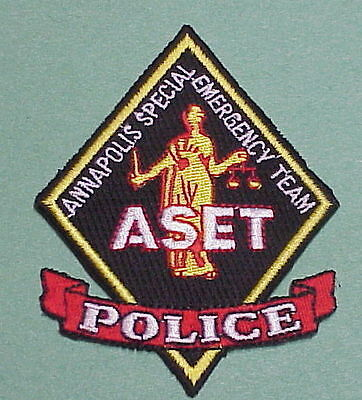 Annapolis  Maryland  Md  Aset  Annapolis Special Emergency Team  Police Patch