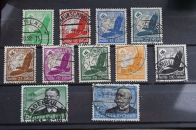 German Stamps. 1934 THIRD REICH AIR SET. USED. HIGH C/V.