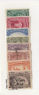 Newfoundland # 61-68 Mlh/mng/used Discovery Of Newfoundland Issues Cv $55+