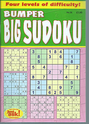 Just Sudoku Bumper Books 90+ Puzzles In Each 4 Levels Of Difficulty Free P/p 28
