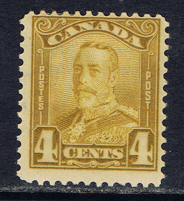 Canada #152(1) 1929 4 cent bistre George V Scroll MLH CV$40.00