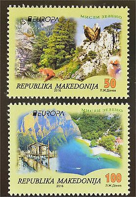 Makedonien Macedonia Nr. 755-56  2016 Europa Think Green Ökologie Umwelt