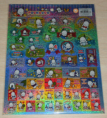 2016 Sanrio Original Pochacco PC Dog stickers Sheet Size: 21.6 X 27.6H cm