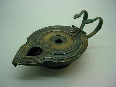 Antique Egyptian Design Metal Rotating Candle Oil Lamp Automatic Lighter Action