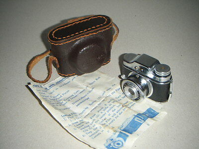 Vintage Cased Miniature Crystar Camera