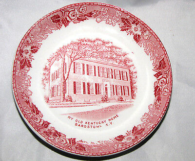 MY OLD KENTUCKY HOME MEAKIN Staffordshire MINI Souvenir PLATE Kentucky