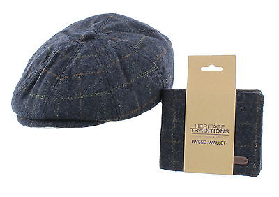 Wool Bakerboy Cap & Matching Wallet Gift Set – Christmas/Birthday/Present