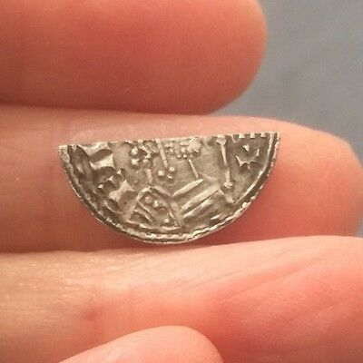 Anglo-Saxon. Edward The Confessor. Silver 'cut' Halfpenny.