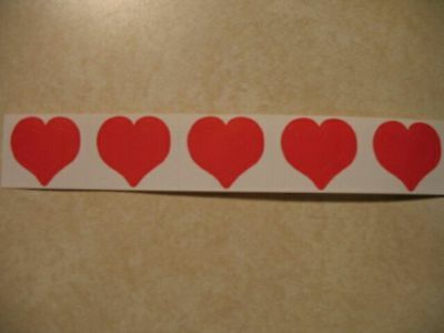 """**50** 3'n'1 Heart Tanning Stickers """"Flat"""" not on a Roll"""