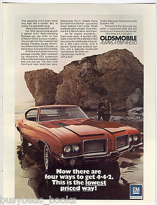 1972 OLDSMOBILE 4-4-2 advertisement, Olds 442