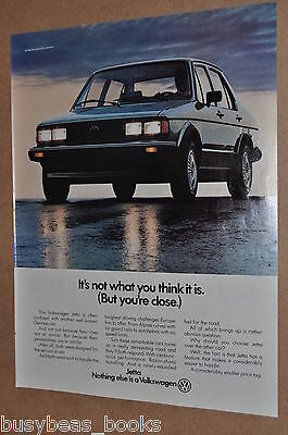 1982 Volkswagen JETTA advertisement, VOLKSWAGEN Jetta, BMW comparison, VW