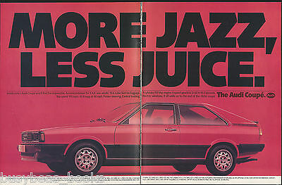 1981 AUDI COUPE 2-page advertisement, British advert, Audi 2-door hatchback