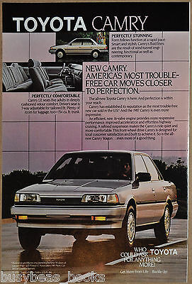 1988 TOYOTA CAMRY Advertisement, Toyota Camry LE sedan