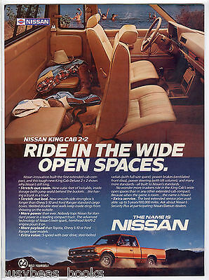 1985 NISSAN Pickup truck advertisement, Nissan 2+2 Pickup truck