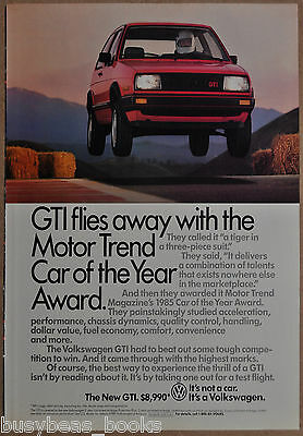 1985 Volkswagen GTI advertisement, VW GTI leaping off road