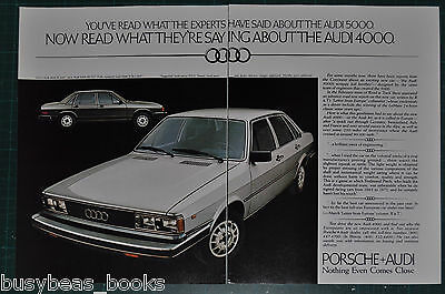 1979 AUDI 2-page advertisement for Audi 4000 & 5000