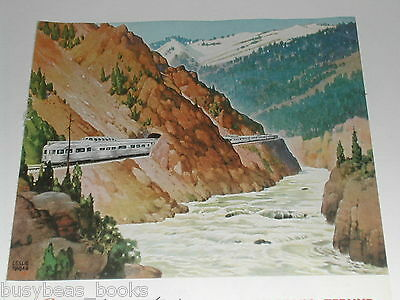 1949 Budd Co. advertisement, CALIFORNIA ZEPHYR passenger train, Colorado Canyon
