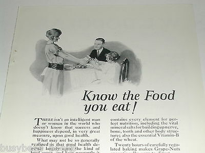 1923 Grape Nuts advertisement, with fruit salad recipe, Postum