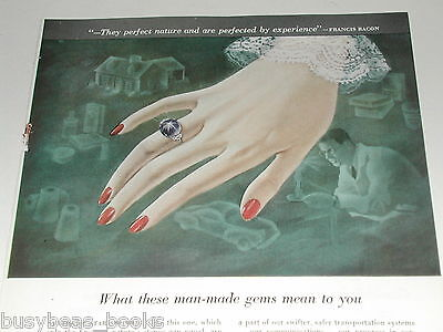 1949 Union Carbide advertisement, making synthetic Star Sapphires