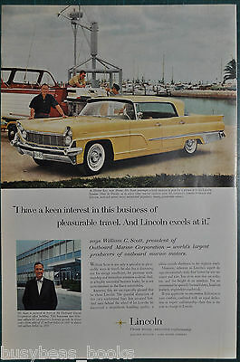 1959 LINCOLN Landau advertisement, with William Scott of Outboard Marine Corp