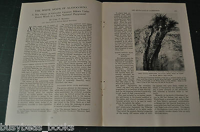 1935 magazine article, WHITE SANDS NATIONALK PARK New Mexico, Alamogordo