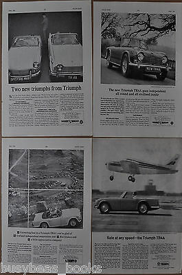 1965-67 TRIUMPH TR 4A advertisements x4, from British magazines TR4A