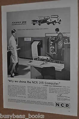 1964 NCR advertisement, NCR 315 Computer at Kaiser Jeep Corp