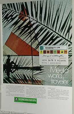 1970 Addressograph advertisement, Diner's Club Credit Card, embossing equipment