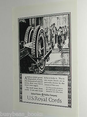1924 United States Tires advertisement, US Rubber, Royal Cord tire