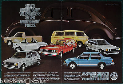 1981 VOLKSWAGEN 2-page advertisement, 25th Anniversary of VW in America