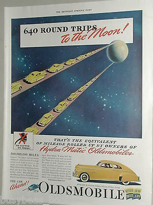 1941 Oldsmobile advertisement page, Oldsmobile coupe, Moon and back