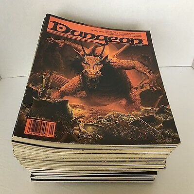 DUNGEON Role Playing Magazine Lot TSR #1-20 (except #5) 1986+ 34 Total $0Ship