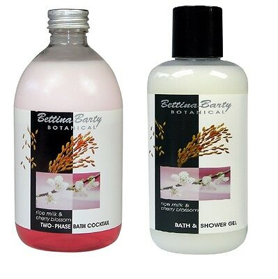 Bettina Barty Botanical RICE MILK & CHERRY Bath & Shower & 2Phasenbad Sparpack