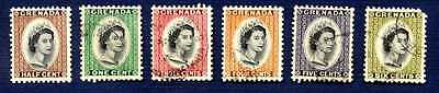 Grenada #171/177 Definitives Of 1953-Group Of 6-Used