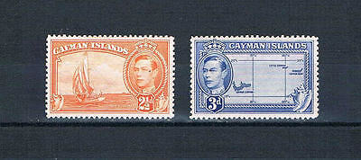 Cayman Is 1947 KGVI New colors '38 Issues - SC 114-115 [SG 120a,121a] Mint 17cf