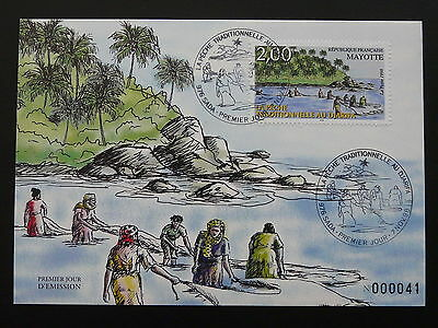 traditionnal fishing maximum card Mayotte Island 1998