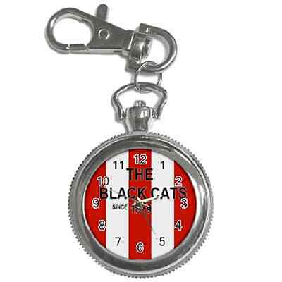 The Black Cats Since 1879 Sunderland Round Keychain Watch**superb Gift Item**