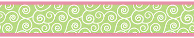 Sweet Jojo Pink Green Olivia Baby Kids Wall Paper Border Room D?cor Wallcovering
