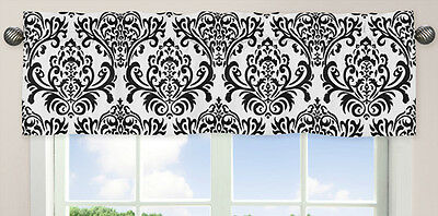 Window Valance Curtain Pink & Black Isabella Bedding Sets by Sweet Jojo Designs
