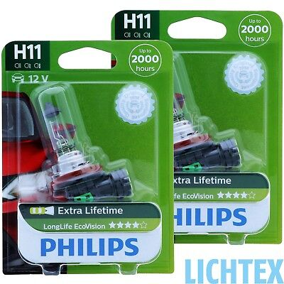 H11 PHILIPS LongLife EcoVision - Scheinwerfer Lampe -  DUO-Pack NEU