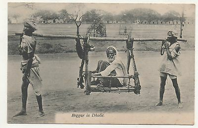 Printed P/C India Begger in Dholie 1914 Period