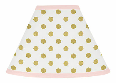 Lamp Shade For Sweet Jojo Designs Gold Polka Dots Amelia Baby Girls Kids Bedding