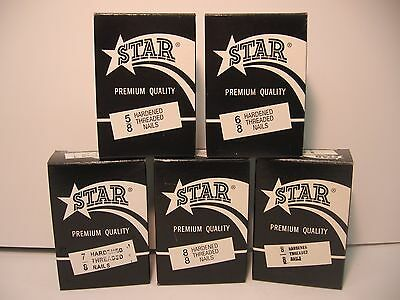 STAR Shoe Repair Hardened Threaded Nails for Heel Plates, Boot heels, pic-a-size