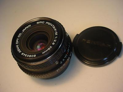 Vintage Pentax-M 1:2.8 28mm Wide Angle Camera Lens Very Clean